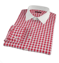 Red Large Gingham Fitted Shirt