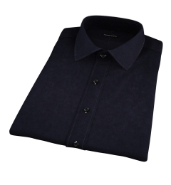 Black Broadcloth Short Sleeve Shirt