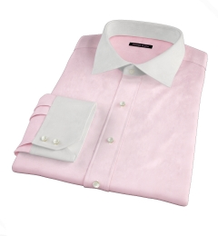 Thomas Mason Goldline Pink Fine Twill Custom Made Shirt