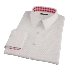 Morton Wrinke-Resistant Red Stripe Custom Dress Shirt