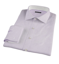 Thomas Mason Lavender Oxford Cloth Custom Made Shirt