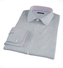 Stormy Light Blue Pinpoint Fitted Dress Shirt