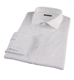 Carmine Purple Fine Stripe Fitted Shirt