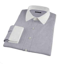 Black Carmine Stripe Men's Dress Shirt