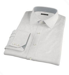 White Wrinkle Resistant 80s Broadcloth Fitted Shirt