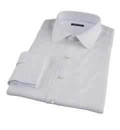 Morton Wrinkle-Resistant Royal Blue Stripe Fitted Dress Shirt