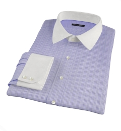 Thomas Mason Lavender Glen Plaid Fitted Dress Shirt
