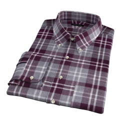 Scarlet and Cinder Large Plaid Flannel Men's Dress Shirt