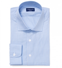Astor Navy Check Custom Dress Shirt