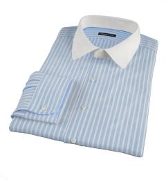 Canclini 120s Light Blue Reverse Bengal Stripe Dress Shirt