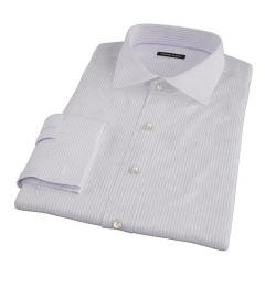 Purple Thin Stripe Heavy Oxford Fitted Dress Shirt