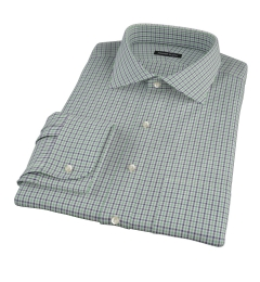 Canclini 120s Green Multi Gingham Dress Shirt