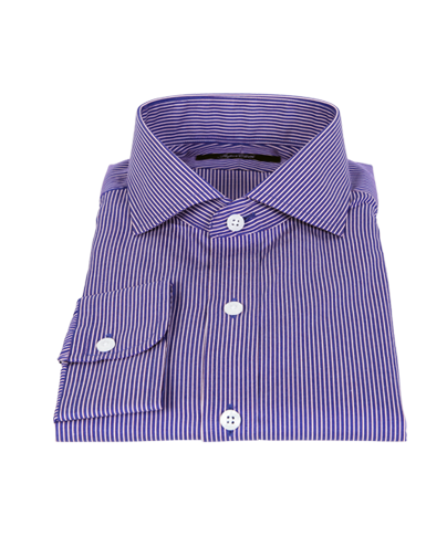 Canclini Blue and Red Stripe Dress Shirt