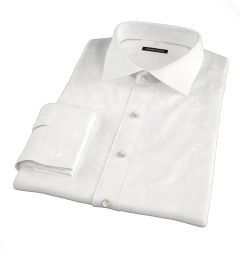 Franklin White Wrinkle-Resistant Lightweight Twill Fitted Dress Shirt