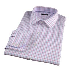 Thomas Mason Crimson Multi Check Fitted Dress Shirt