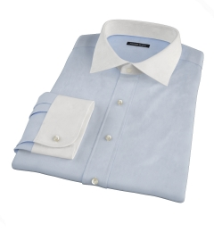 Light Blue 80s Royal Oxford Fitted Shirt