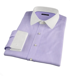 Genova 100s Lilac End-on-End Custom Dress Shirt