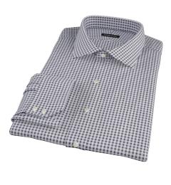 Medium Black Gingham Custom Dress Shirt