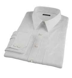 100s Pale Grey Stripe Dress Shirt
