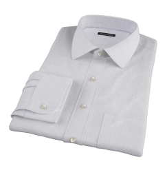 Red Blue Morton Grid Men's Dress Shirt
