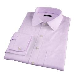 Lavender 80s Broadcloth Custom Made Shirt