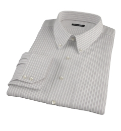 Japanese Lavender and Grey Stripe Fitted Dress Shirt