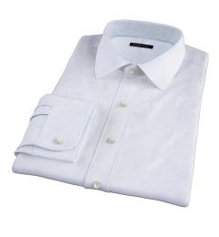 Canclini Light Blue Fine Stripe Fitted Shirt