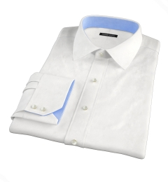 Thomas Mason White Royal Oxford Fitted Shirt