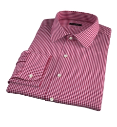 Melrose 120s Red Mini Gingham Tailor Made Shirt