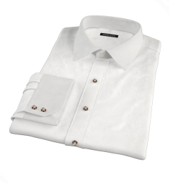 Thomas Mason White Fine Twill Tailor Made Shirt