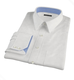 Cabo White Tropical Chambray Tailor Made Shirt