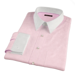 Morris Pink Wrinkle-Resistant Houndstooth Dress Shirt