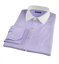 Genova 100s Lilac End-on-End Fitted Shirt
