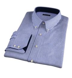 Albini Marine Stripe Seersucker Men's Dress Shirt