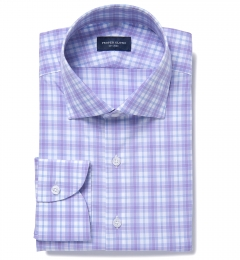 Siena Lavender and Blue Multi Check Custom Dress Shirt