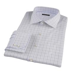 Thomas Mason Brown Multi Check Men's Dress Shirt