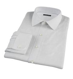 Canclini White Imperial Basketweave Custom Made Shirt