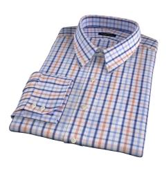 Catskill 100s Amber Multi Check Dress Shirt