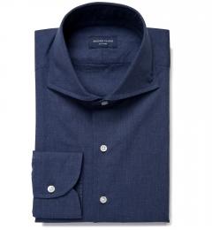 Bleecker Navy Melange Custom Dress Shirt