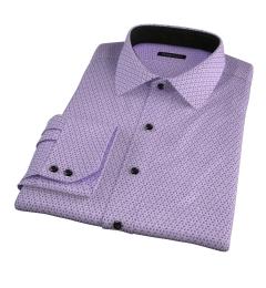 Granada Lavender Print Fitted Dress Shirt