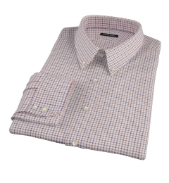 Canclini Maple Tattersall Lightweight Flannel Tailor Made Shirt