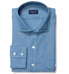 Japanese Washed Chambray Men's Dress Shirt
