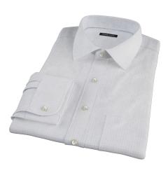 Blue Navy Morton Grid Custom Made Shirt