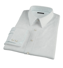 Bowery Mint Wrinkle-Resistant Pinpoint Fitted Dress Shirt
