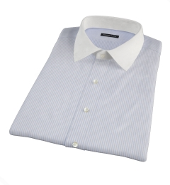 Portuguese Blue Stripe Seersucker Short Sleeve Shirt