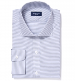 Carmine Grey Horizontal Stripe Tailor Made Shirt