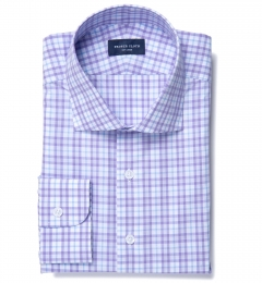 Varick Lavender Multi Check Men's Dress Shirt