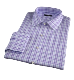 Varick Lavender Multi Check Fitted Dress Shirt