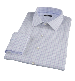 Thomas Mason Lavender Multi Check Custom Dress Shirt