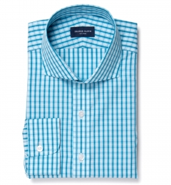 Canclini 140s Azure Grid Tailor Made Shirt